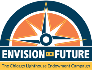 Envision the Future Endowment Campaign logo: a half circle with a compass inside