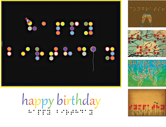 inBraille Greeting Cards The Chicago Lighthouse – Birthday Cards for the Blind