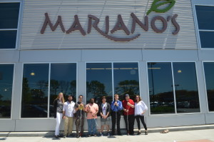First Jobs participants and staff outside of Mariano's