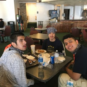YT group_ski lunch
