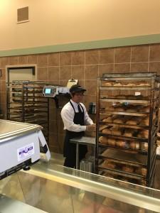 Steven making bread