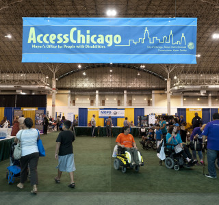 A photo of the AccessChicago convention hall.