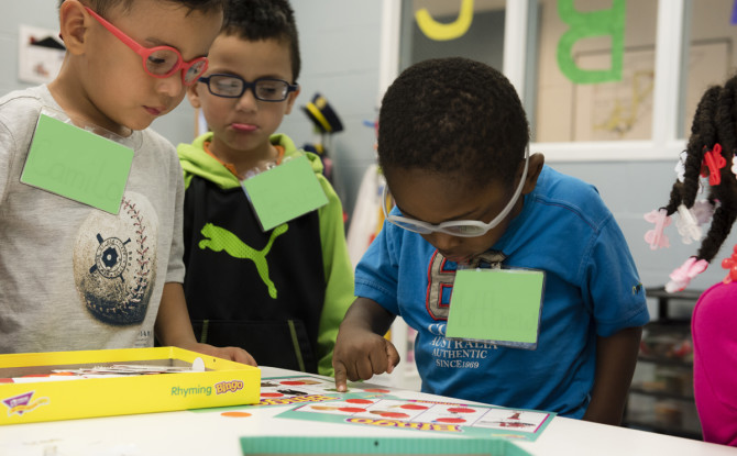 Where do children who are blind or visually impaired go to school?