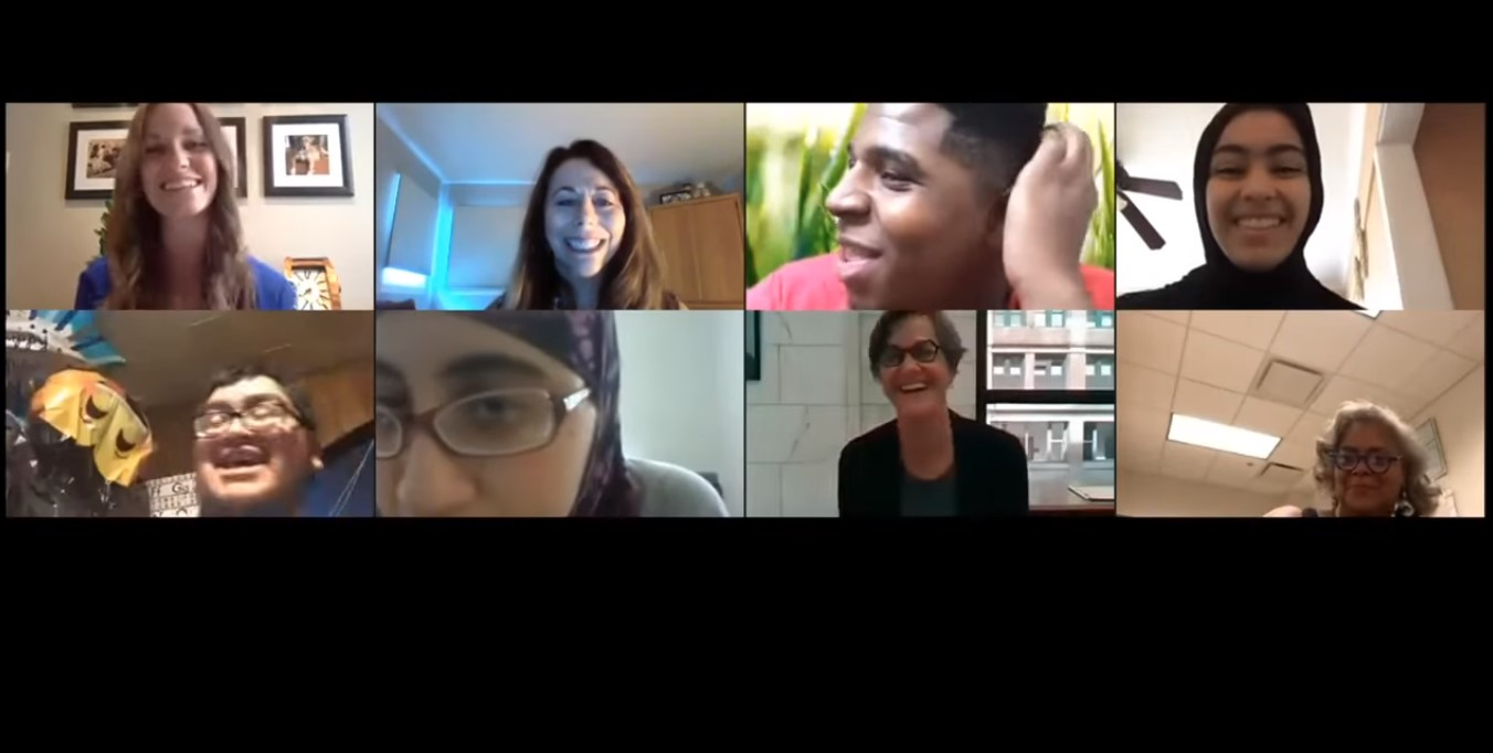 screenshot of participants in a zoom call