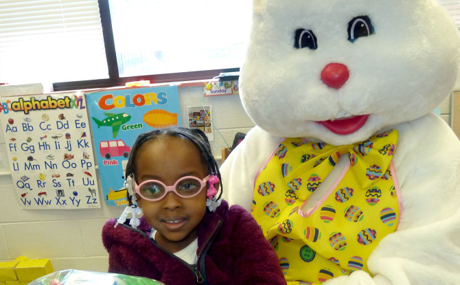 River Grove Lions Club Sponsors Special Easter Bunny Visit
