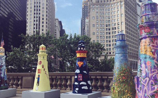 Lighthouses On Mag Mile Feature in the Daily Herald