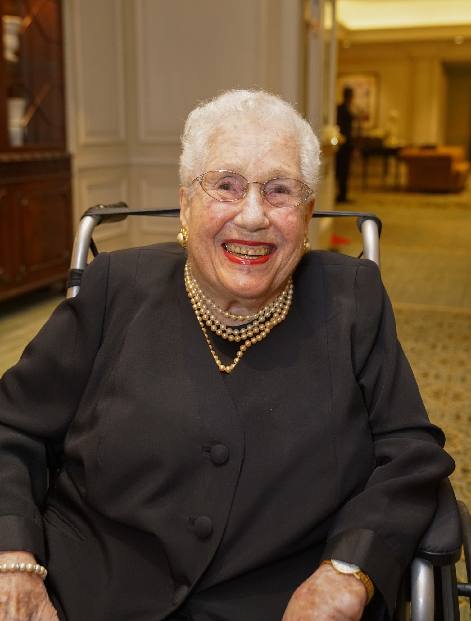 Mrs. Mayer smiles during a gala at The Chicago Lighthouse