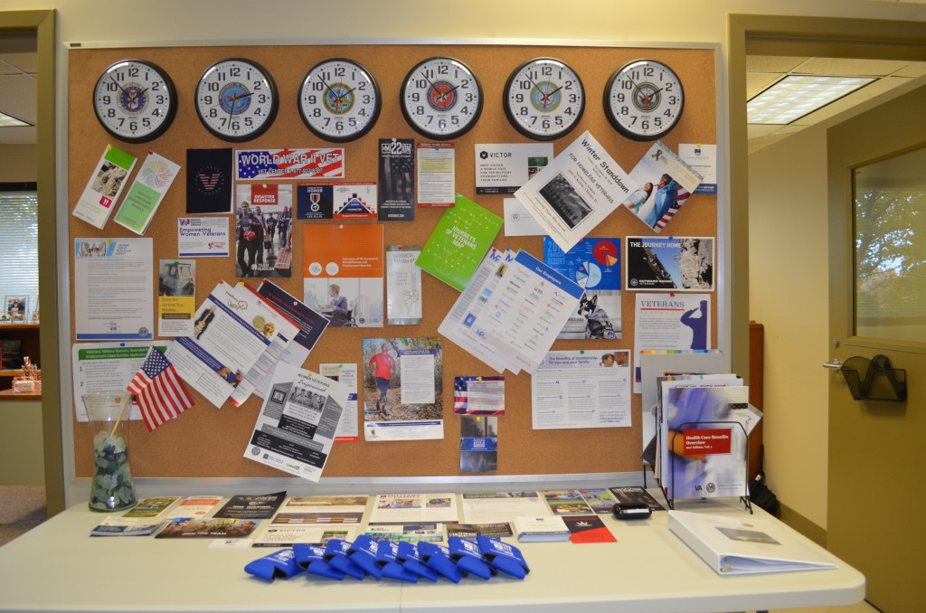 The Veterans Corner has materials listing resources for Veterans.