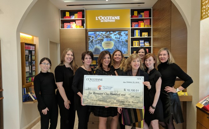 L'Occitane Gives Generous Donation to The Chicago Lighthouse