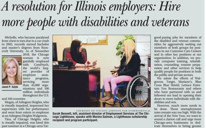 Lighthouse President & CEO Promotes Disability Employment in Recent Daily Herald