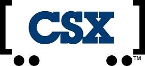 CSX logo in brackets
