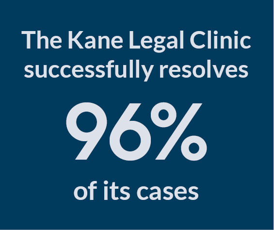 Kane Legal Clinic infographic