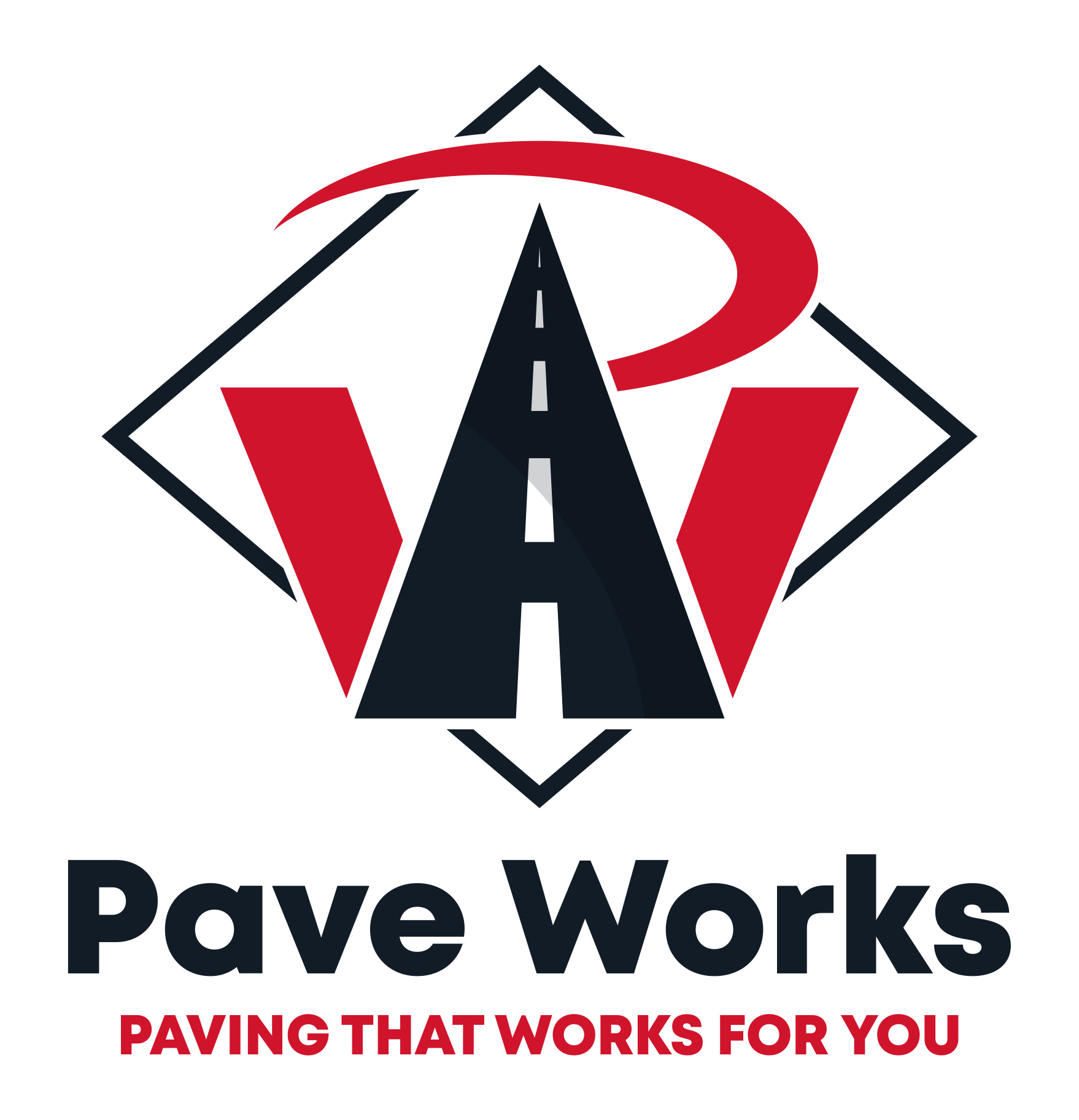 Pave Works logo with road