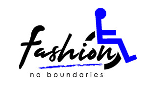 Logo for Fashion No Boundaries incorporating the wheelchair icon