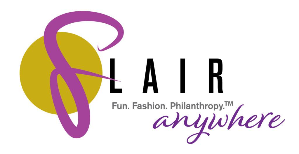 FLAIR logo: Flair Anywhere! Fun. Fashion. Philanthropy