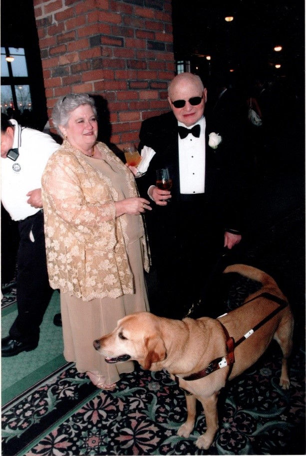 Paul and Ann Scher with Paul's guide dog at the 2006 Chicago Lighthouse Centennial Gala