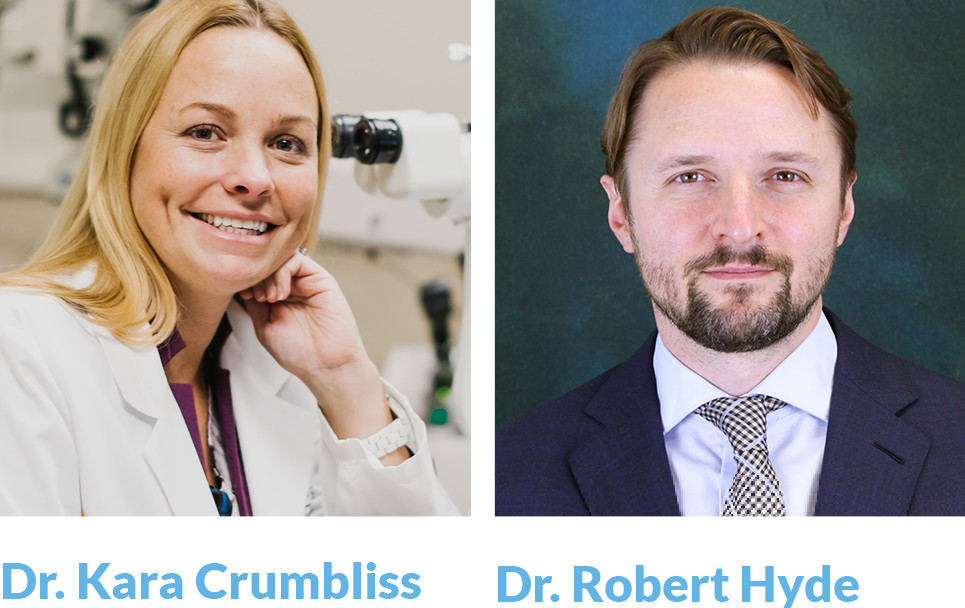side by side photos of Dr. Kara Crumbliss and Dr. Robert Hyde