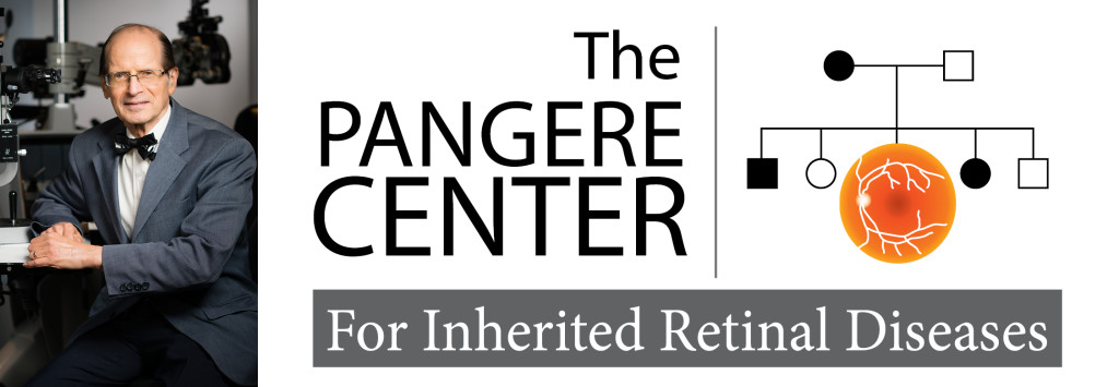 Dr. Fishman in the clinic. Text says: The Pangere Center for Inherited Retinal Diseases