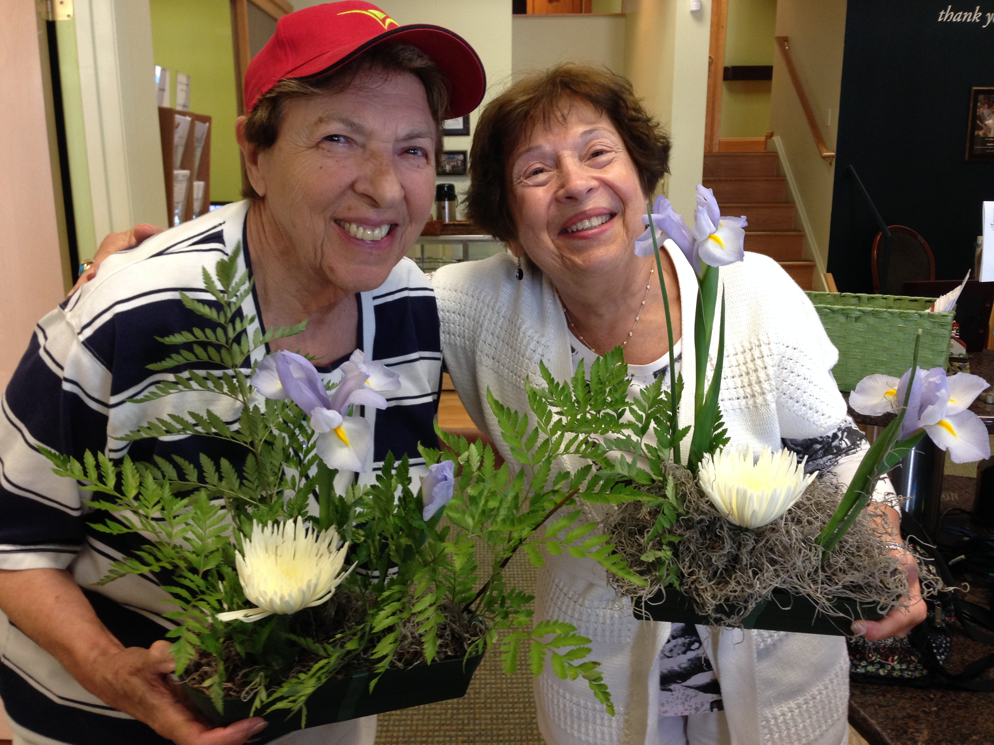 Lois and a friend in the seniors program at an event