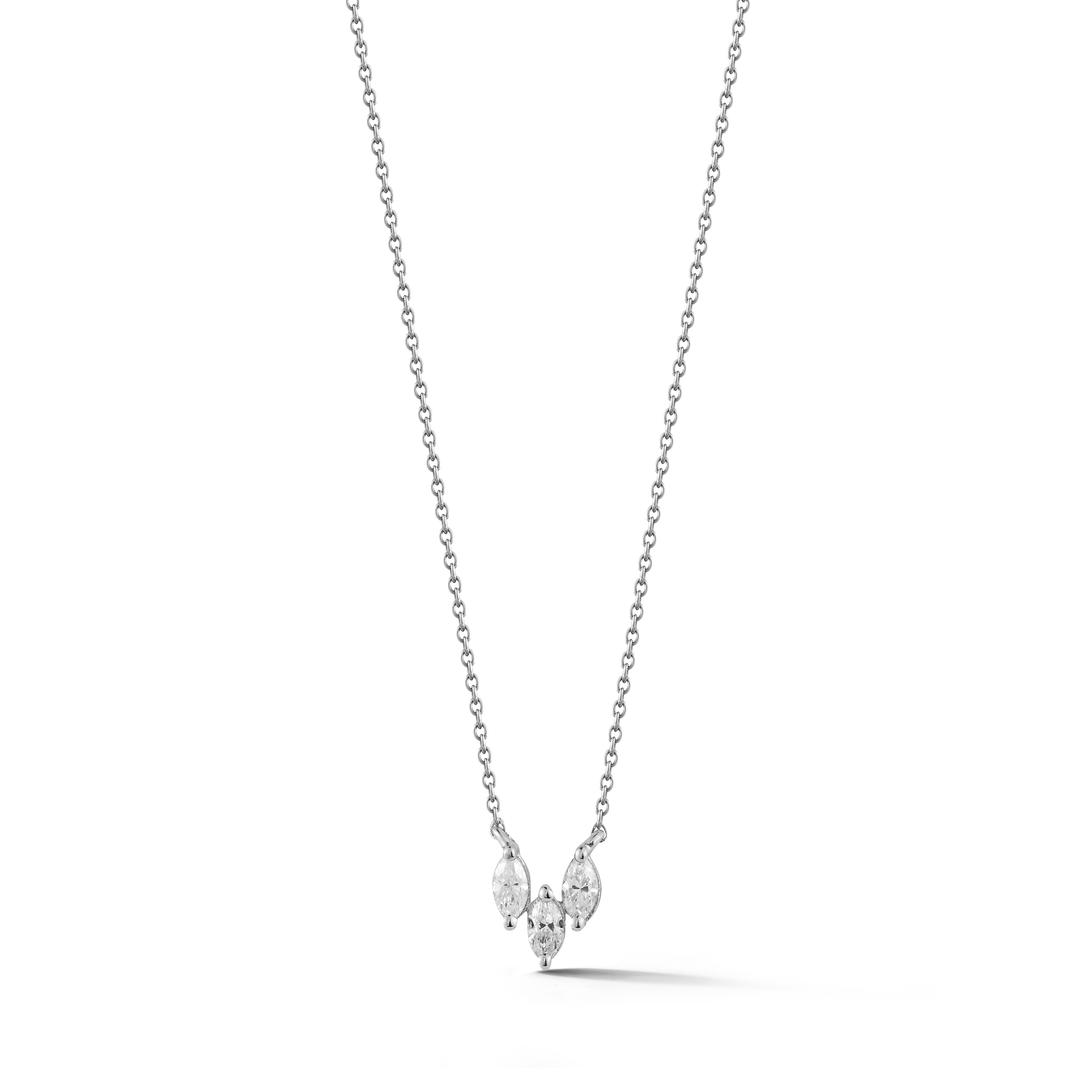 14 karat white gold & diamond necklace
