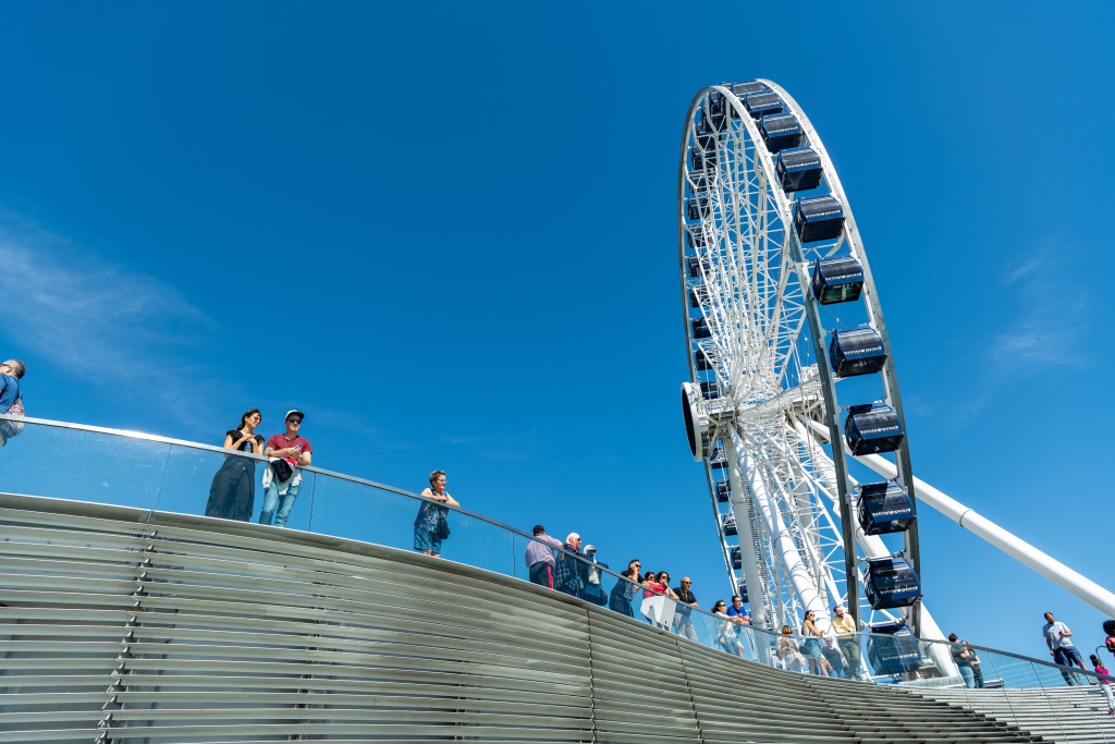 The Ferris Wheel at Navy Pier is pictured.